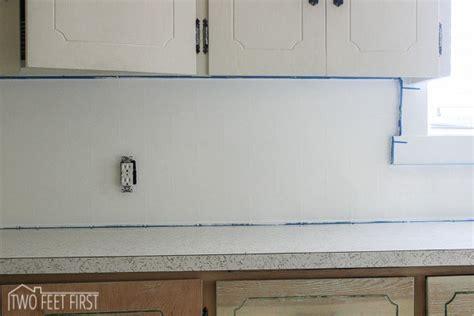diy cheap kitchen backsplash twofeetfirst
