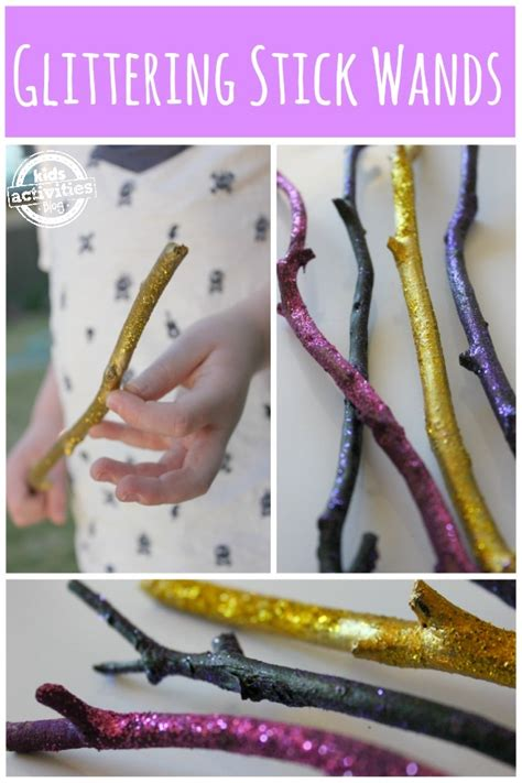 wand wands easy wizard crafts craft halloween activities witch zauberstab stick simple theme kid glittering magic wizards zauberer little witches