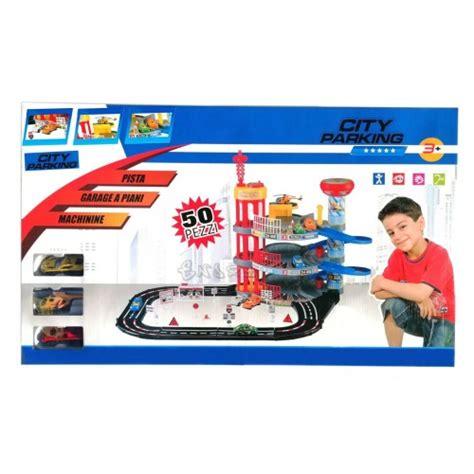 box garage 3 piani set gioco garage e pista macchine per