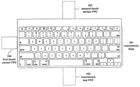 apple patents hybrid fusion keyboard  gestures
