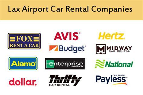 Car Rental Companies Los Angeles Airport (lax