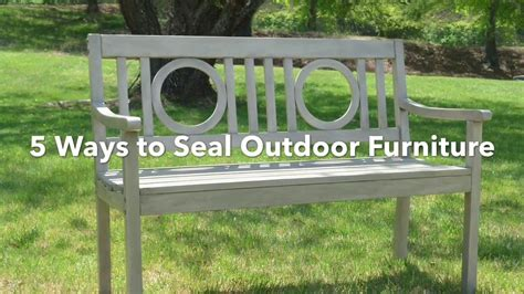 ways seal outdoor chalk painted furniture wood