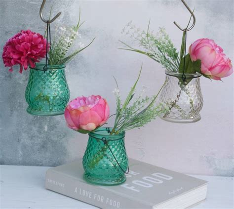 peony vase peony bouquet in hanging vase by abigail bryans designs