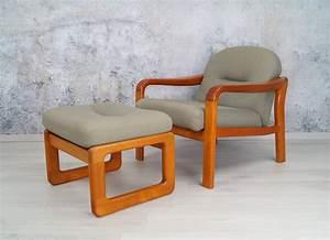 Sessel 60er Design : teak sessel mit hocker 60er 70er jahre midcentury danish ~ A.2002-acura-tl-radio.info Haus und Dekorationen