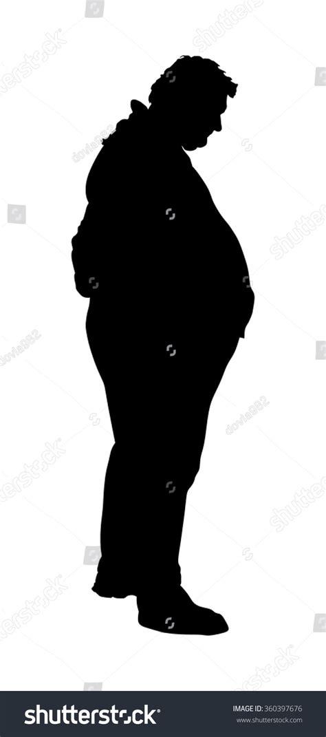 foto de Fat Man Worry About Health Vector Stock Vector 360397676