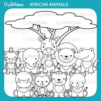 safari animals clip art jungle animals african wildlife