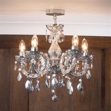 vintage bedding therese chandelier 5 light dual mount silver from