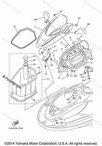 Yamaha Waverunner 2002 Oem Parts Diagram For Engine Hatch 2