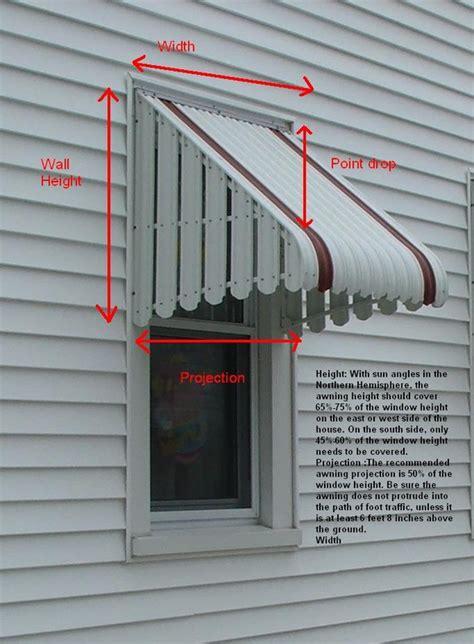 measure  window awnings