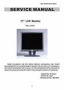 Dell E173fp Lcd Monitor Service Manual Download  Schematics  Eeprom  Repair Info For Electronics