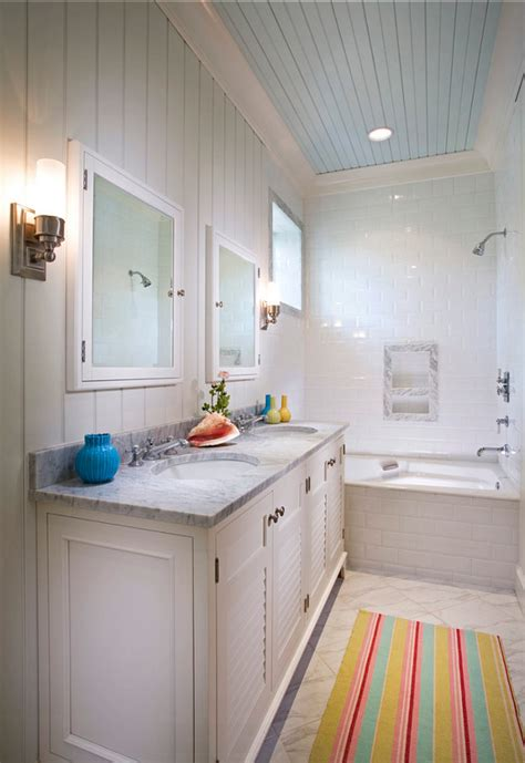 Color For Bathroom Ceiling by Small Cottage With Turquoise Interiors Home Bunch