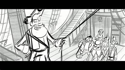 Storyboard Sequence Pirates Nifty Animation Band Misfits