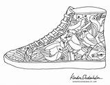 Coloring Pages Shoes Shoe Adult Printable Adults Shedenhelm Kendra Sheets Print Books Coolest Cool Jordan Colouring Coolmompicks Doodles Birds Curry sketch template