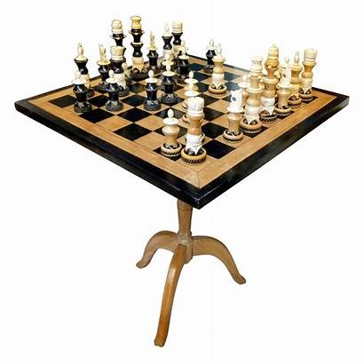 Chess Wood Amazing Pieces Board Bone Handcrafted