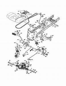 Drive Diagram  U0026 Parts List For Model Yth2448t Husqvarna