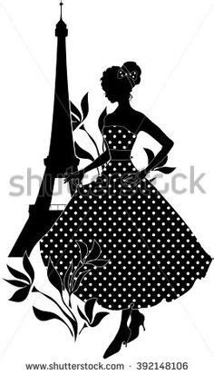 eiffel tower silhouette clipart  stock photo public