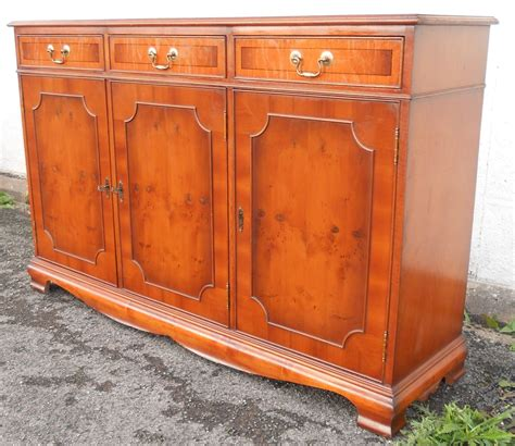 Yew Sideboards by Three Door Yew Sideboard Base