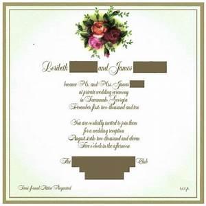 wedding reception invitation wording already married With wedding invitation wording if you are already married