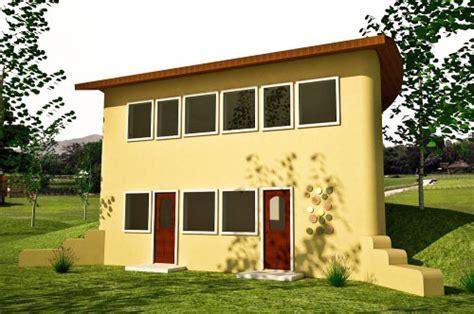 Earth-bermed Natural House Plan