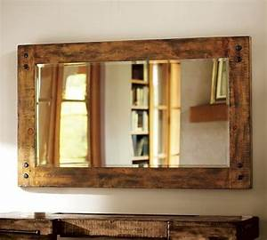 pottery barn loving this in the den this beveled mirrors With barn style mirrors