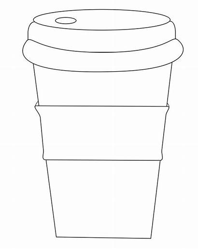Cup Coffee Sleeve Words Decorate Circle Coloring