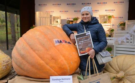 Noskaidrots Latvijas lielākais ķirbis - 329,5 kilogramus ...