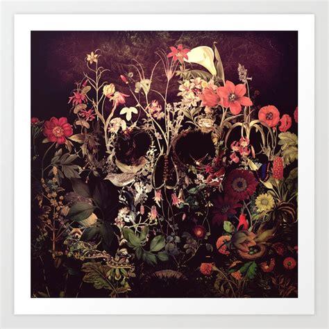 Bloom Skull Art Print Aligulec Society
