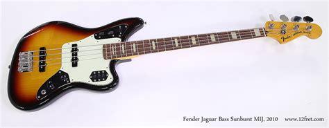 Fender Jaguar Mij by Fender Jaguar Bass Sunburst Mij 2010 Www 12fret