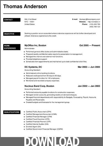 Microsoft Office Resume Maker by 12 Free Microsoft Office Docx Resume And Cv
