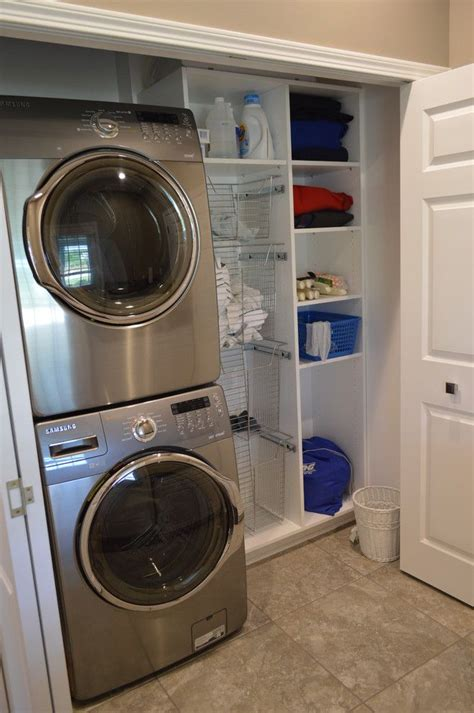 laundry room in kitchen ideas 25 best ideas about stacked washer dryer on