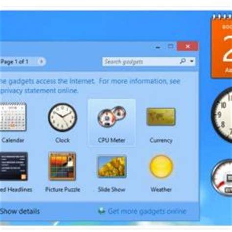 gadget bureau windows 8 télécharger desktop gadgets and sidebar for windows 8 1