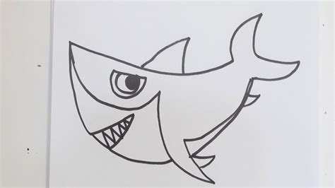 draw cartoon shark youtube