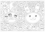 Murakami Takashi Coloriage Fleurs Kaiki Cartier Kiki Fondation sketch template