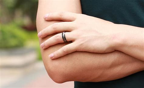 fashion jewelry movie men s finger rings the one ring titanium stainless steel black ring 6mm