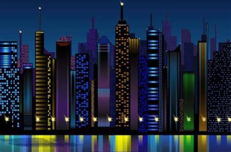 cool  vector night scenes  designers designbeep