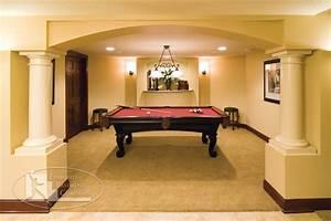Basement Pool Table Room - Traditional - Basement