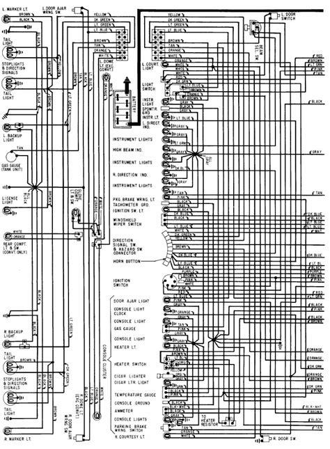chevrolet corvette wiring diagram   wiring