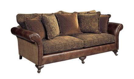 Sofa Leder Stoff Kombination by Leather Sofa With Cloth Cushions Bernhardt Henri Sofa