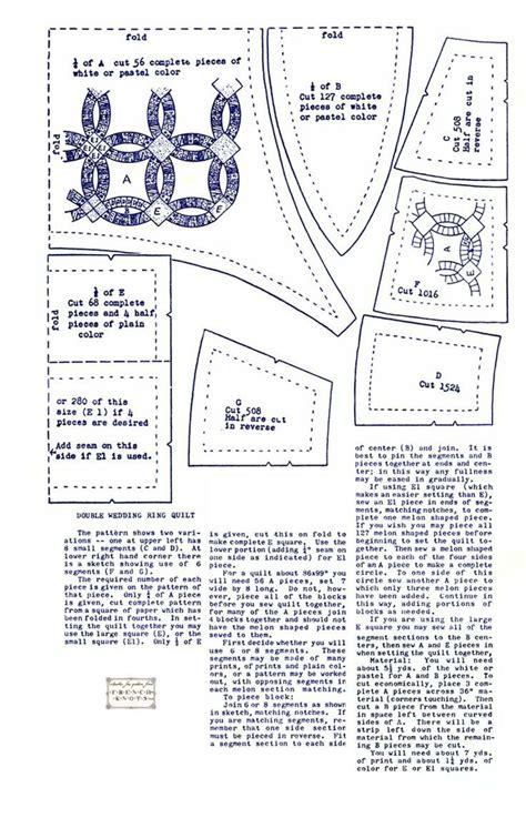 wedding ring quilt pattern printable