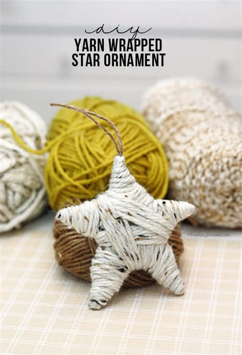 cardboard yarn ornaments diy christmas ornaments