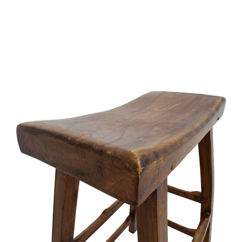 Stool Buy 55 Rustic Wood Saddle Seat Counter Stool Chairs