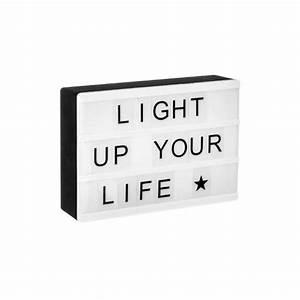 Boite Lumineuse Message : bo te led lumineuse messages magn tique les douces nuits de ma linge de maison ~ Teatrodelosmanantiales.com Idées de Décoration