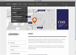 Copenhagen Designer Outlet website - Fonts In Use