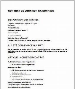 contrat de location saisonniere meuble gratuit With contrat location meuble saisonnier