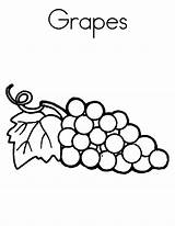 Grapes Coloring Pages Raisins Grape Printable Books Template Worksheets Spell Letter Adult Parentune sketch template