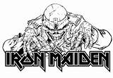 Maiden Iron Eddie Head Coloring Pages Rock Band Riggs Derek Metal Heavy Colouring 80s Adult Deviantart Eddy Books Bands Music sketch template