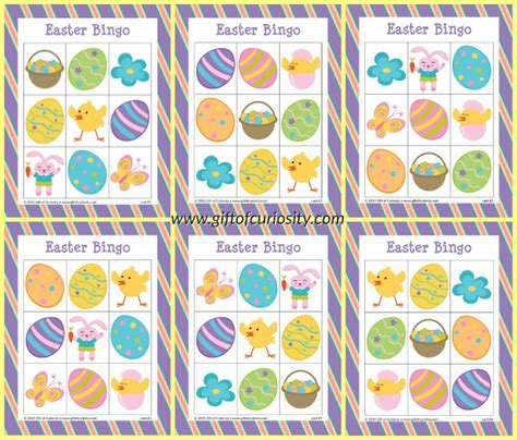 fantastic easter bingo cards  merriment