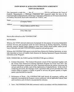 Snow plowing contract template 20 free word pdf for Snow removal contract template free