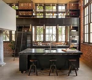 cuisine au style industriel les 8 details qui changent tout With kitchen cabinet trends 2018 combined with suspension luminaire papier