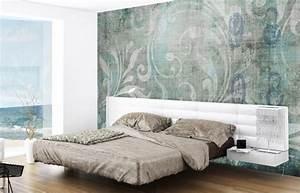 Schlafzimmer Design Grau : 42 ideen mit tapeten f r ihr modernes raumambiente ~ Markanthonyermac.com Haus und Dekorationen